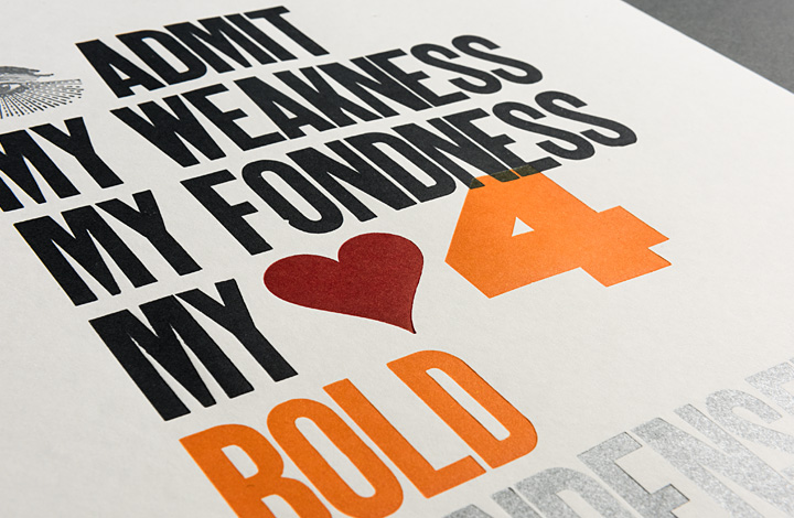 I admit my weakness, my fondness, my love for bold condensed sans serif typefaces - 2