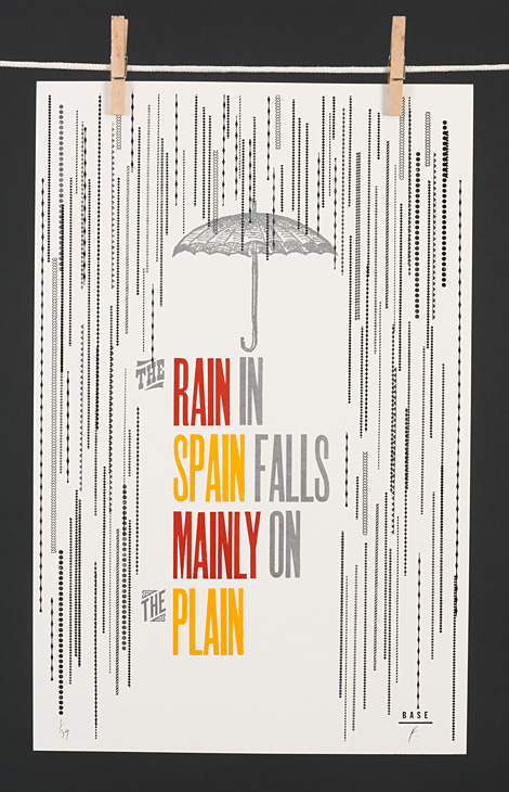 The rain in Spain falls mainly on the plain - 1