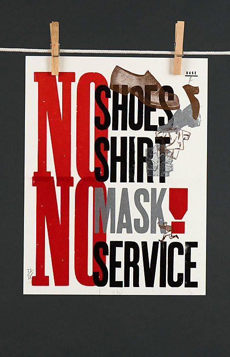 No shoes, no shirt, no mask, no service - 1