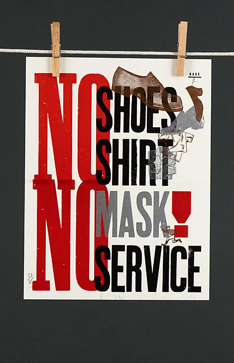 No shoes, no shirt, no mask, no service - 1