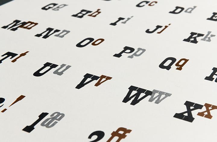 Type Specimen: Antique Condensed - 2